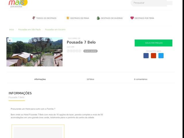 Pousada - Hotel Fazenda 7 Belo - Socorro - SP