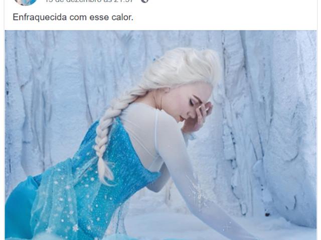 Elsa fica enfraquecida com o calor e amigos se solidarizam