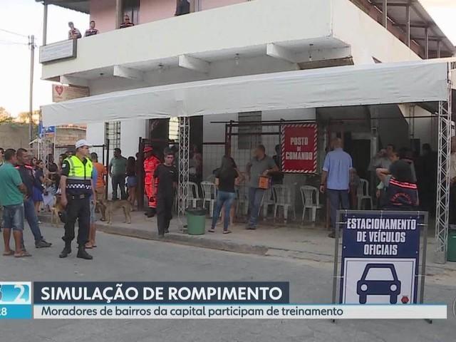 Simulado de rompimento de barragem em BH tem 30% das pessoas esperadas