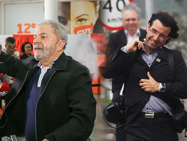 A dupla Lula e Ricardo Stuckert