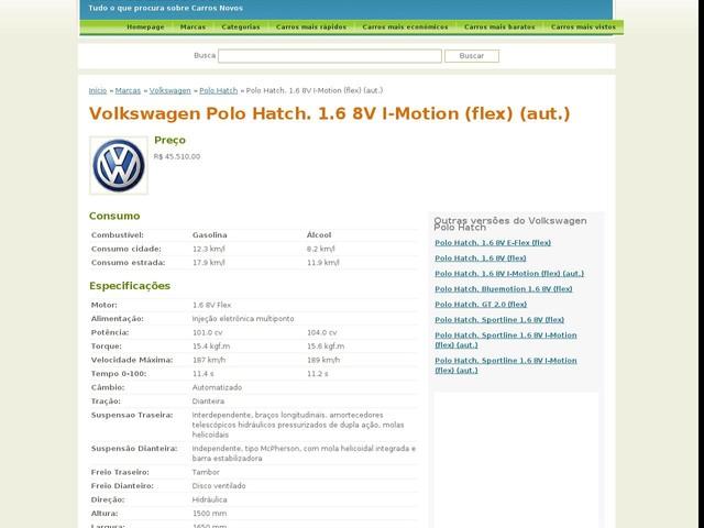 Volkswagen Polo Hatch. 1.6 8V I-Motion (flex) (aut.)