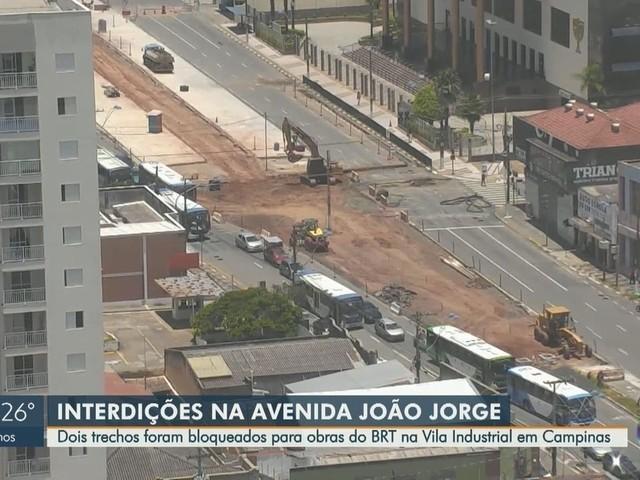 Avenida João Jorge tem trechos bloqueados para obras do BRT neste sábado; veja desvios