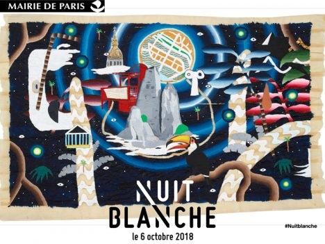 O evento cultural Nuit Blanche 2018 em Paris