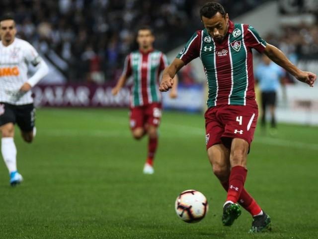 Destaque do Fluminense, Nenê valoriza empate em Itaquera: 'É decidir em casa'