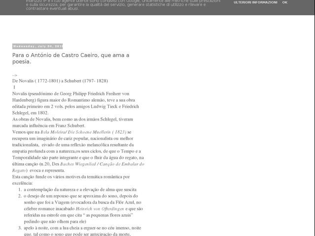 Para o António de Castro Caeiro, que ama a poesia.