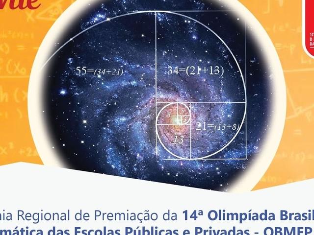 Cerimônia Regional dos medalhistas da OBMEP 2018 será dia 9 de agosto