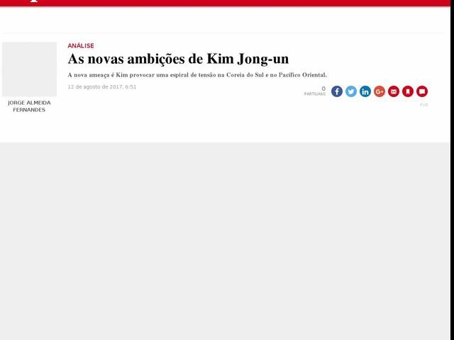 As novas ambições de Kim Jong-un