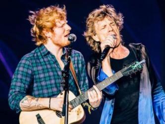 "Ed Sheeran toca ""Beast of Burden"" com os Rolling Stones"