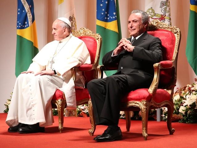 Papa Francisco recusa encontro com Temer em Roma