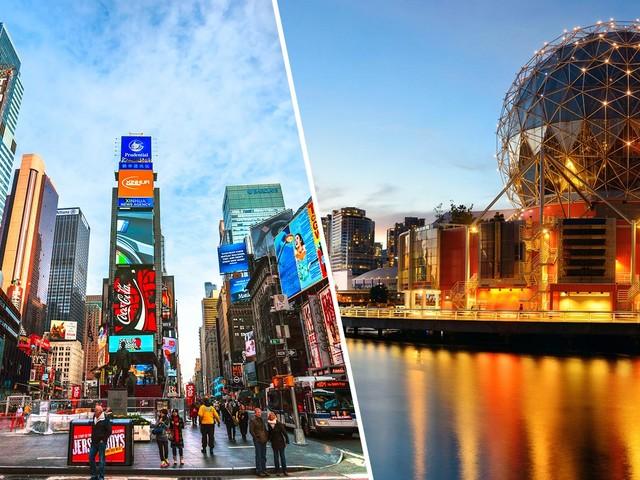 Passagens 2 em 1 para Nova York mais uma cidade no Canadá a partir de R$ 1.741 saindo de São Paulo!