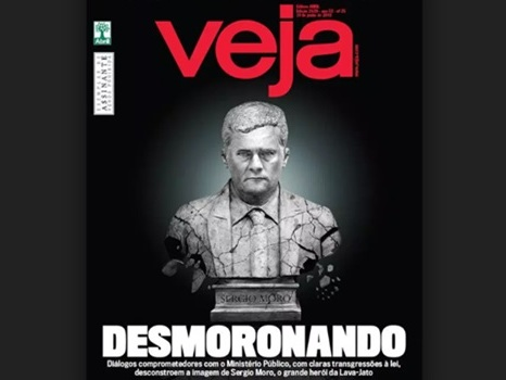 Revista Veja surpreende e também abandona Sergio Moro