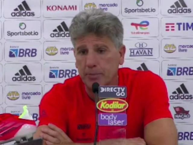 Renato Gaúcho reconhece falta de entrosamento dentro de campo devido as ausências