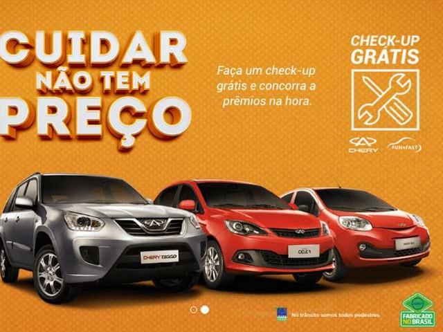 Mercado: Chery lança ação para incentivar revisão preventiva