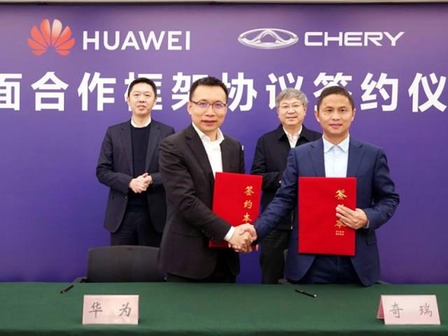 Chery e Huawei anunciam acordo para carros inteligentes