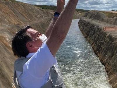 Rio São Francisco | Obra que Bolsonaro visitou estava 94% pronta antes de posse