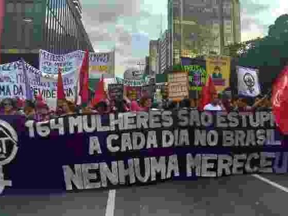 Na região central | Bolsonaro é alvo em ato em SP pelo Dia da Mulher; PMs cobrem os rostos