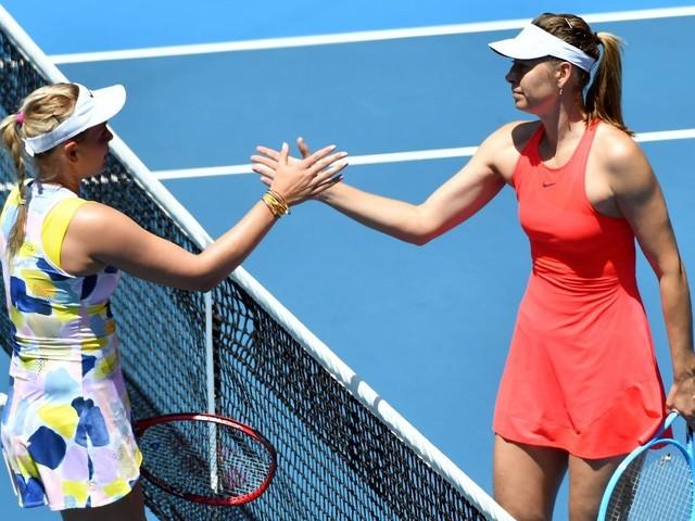 Sharapova cai na Austrália e mantém mistério sobre futuro
