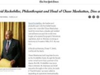 'NYT': Morre aos 101 David Rockefeller, filantropo e banqueiro