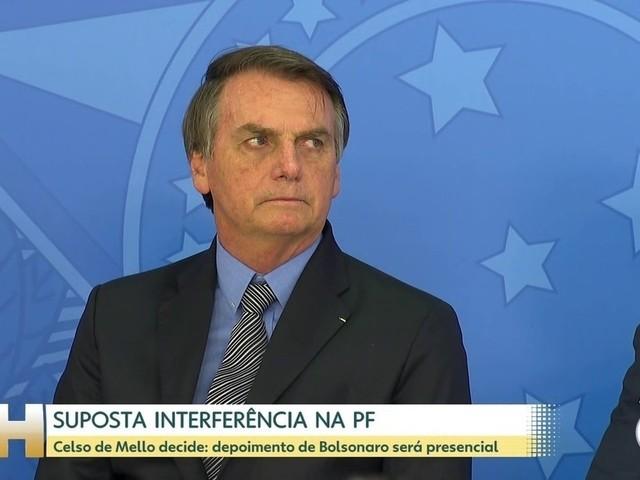 AGU recorre de decisão de Celso de Mello sobre depoimento presencial de Bolsonaro