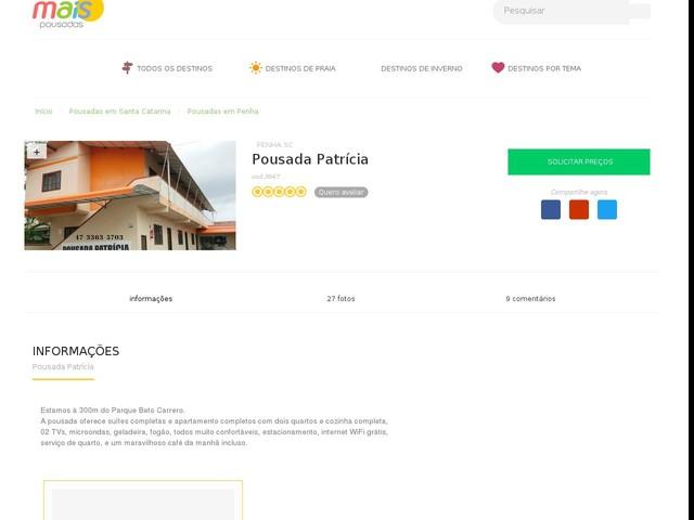 Pousada Patrícia - Penha - SC