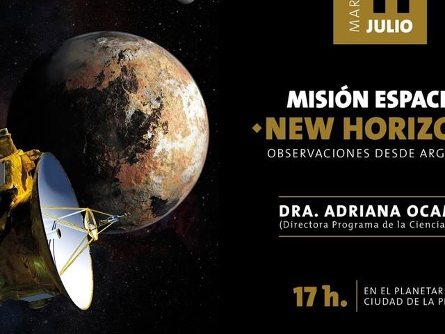 Misión espacial New Horizons en La Plata
