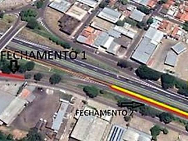 Obras levam ao fechamento de alças da Rodovia Raposo Tavares na área urbana de Presidente Prudente neste sábado