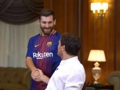 Casillas é surpreendido por sósia de Messi durante entrevista; veja