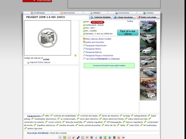 PEUGEOT - 2008 , 1.6 HDI 100CV (1/20/2020 11:07:45 AM)