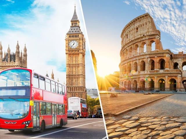 Passagens 2×1 para Londres mais Roma, Milão, Paris ou outros destinos a partir de R$ 2.026! E 3×1 com Londres, Paris e Amsterdã por R$ 2.463!