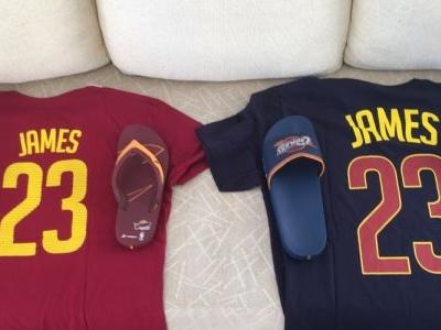 Casagrande ganha camisas de LeBron James e chinelos de presente da NBA