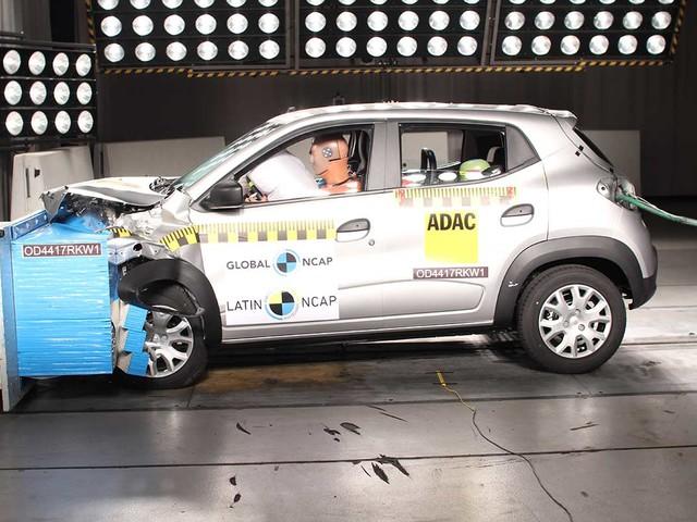 Renault Kwid recebe três estrelas nos testes de impacto do Latin NCAP