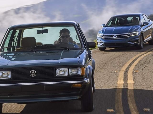 VW Jetta 2019 x VW Jetta 1982 - comparativo - vídeo