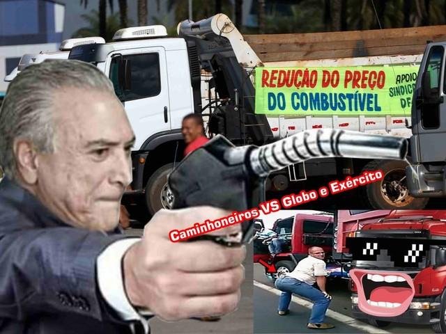 Os melhores vídeos da Greve que provam que os caminhoneiros vencem a Globo e o Exército nesta copa