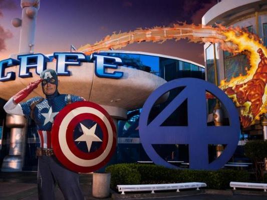 Jante com heróis da Marvel na Universal