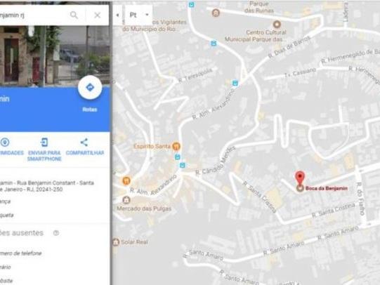 Google Maps indica endereço de boca de fumo no Rio de Janeiro