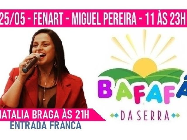 Cantora Natalia Braga se apresenta na 4ª edição do Bafafá da Serra em Miguel Pereira