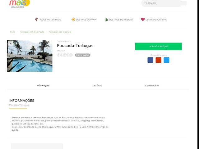 Pousada Tortugas - Guarujá - SP