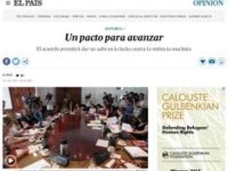 'El País':Um pacto para avançar