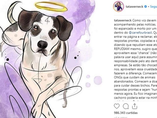 Artistas, ONGs e internautas se mobilizam por cachorro morto por segurança do Carrefour