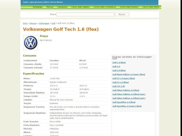 Volkswagen Golf Tech 1.6 (flex)