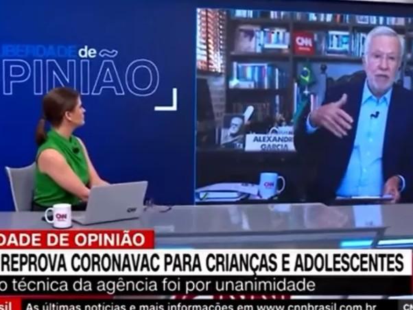 CNN desmente ao vivo fala absurda de Alexandre Garcia