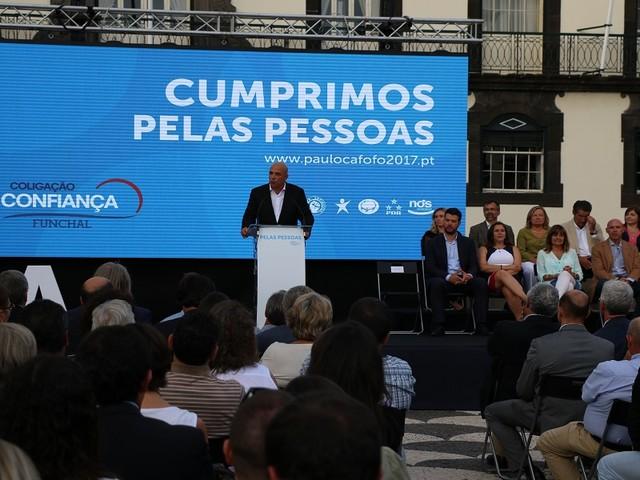 """António Costa elogia """"excelência"""" e Cafôfo promete continuar a trabalhar"""