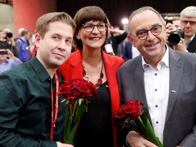 Esken und Walter-Borjans neue Parteichefs, Kühnert im Vorstand