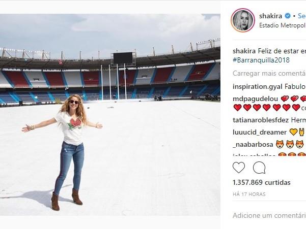 Shakira é destaque na abertura dos Jogos Centro-Americanos