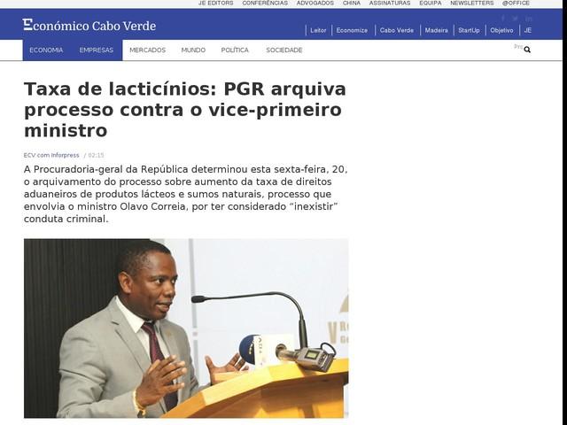 Taxa de lacticínios: PGR arquiva processo contra o vice-primeiro ministro