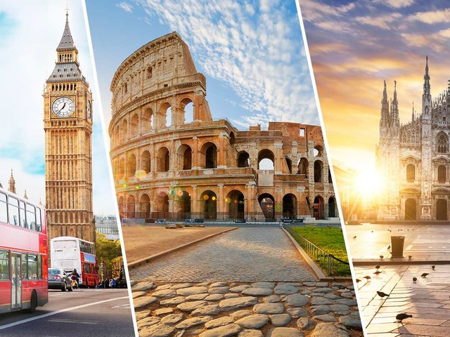 Passagens 3 em 1 com Londres mais Roma e Milão a partir de R$ 2.216 com bagagem despachada!