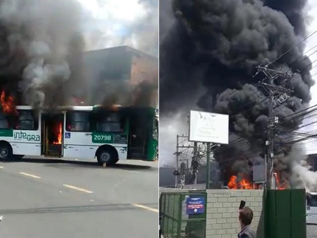 Ônibus param de rodar em Sussuarana após coletivo ser queimado