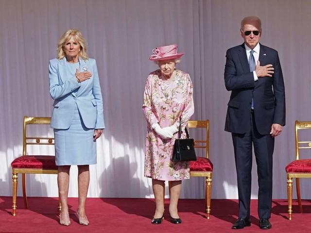 US-Präsident Nummer 13: Queen Elizabeth II. empfängt Joe Biden und First Lady Jill