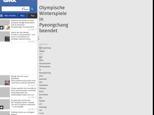 Olympische Winterspiele in Pyeongchang beendet