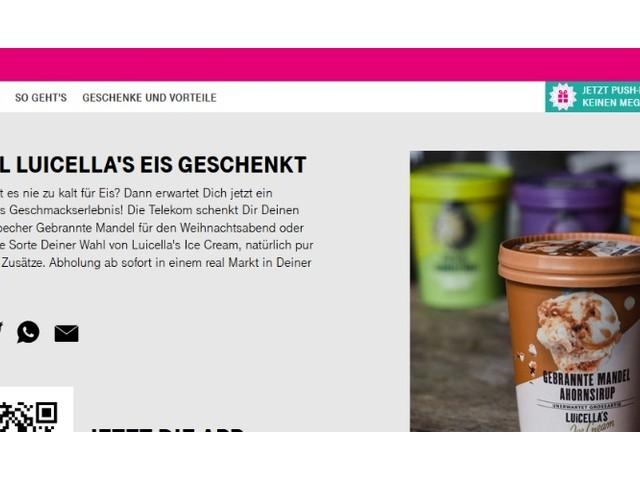 Telekom verschenkt 500-ml-Eisbecher an alle Kunden
